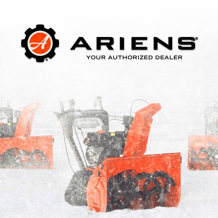 Ariens - Your Authorized Dealer with snow blowers on snowy mountain