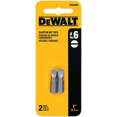 DeWalt Slotted #6 1 In. Insert Screwdriver Bit