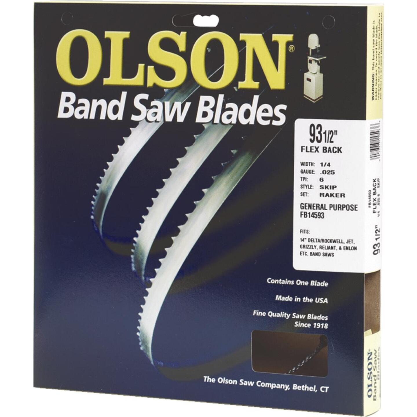 Olson 93-1/2 In. x 1/8 In. 14 TPI Regular Flex Back Band Saw Blade Image 1