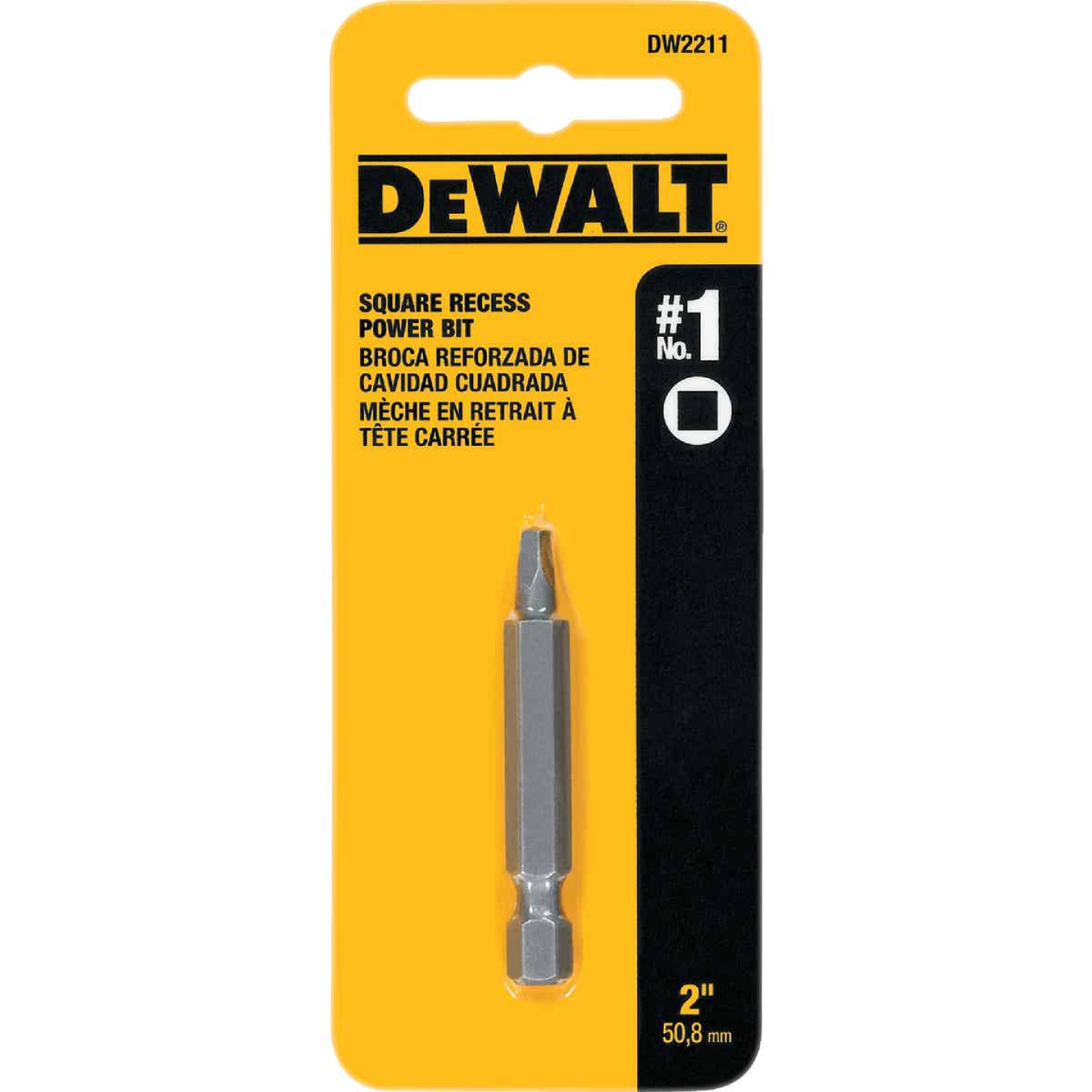 DeWalt Square Recess #1 2 In. Power Screwdriver Bit Image 2