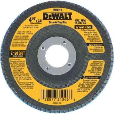 DeWalt 4-1/2 In. 120-Grit Type 29 High Performance Zirconia Angle Grinder Flap Disc