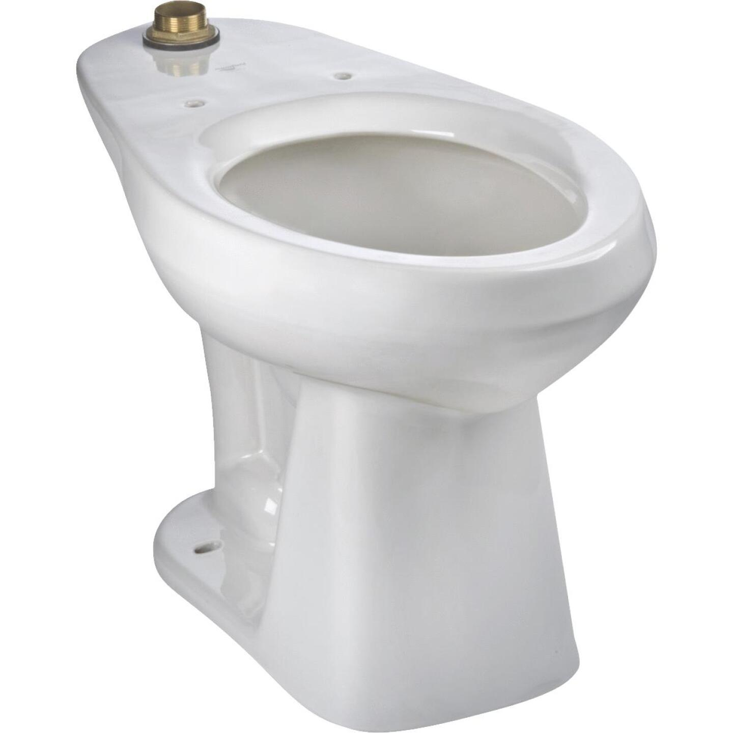 Mansfield Adriatic White Elongated 17 In. ADA Toilet Bowl Image 1