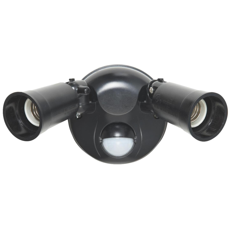 Bronze Motion Sensing Dusk To Dawn Incandescent Floodlight Fixture Image 2