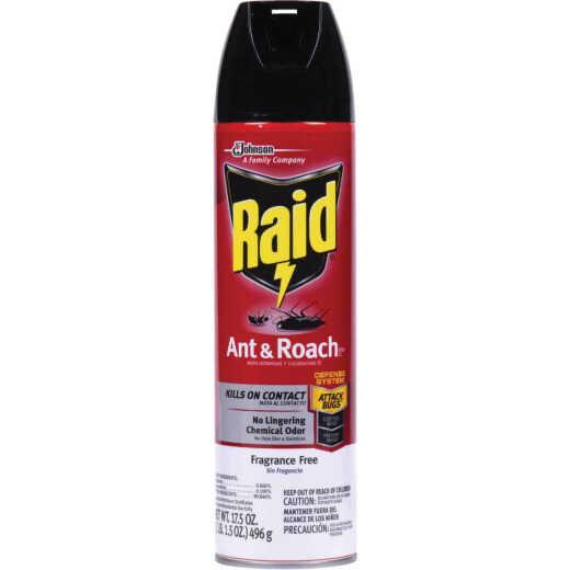 Raid 17.5 Oz. Unscented Aerosol Spray Ant & Roach Killer