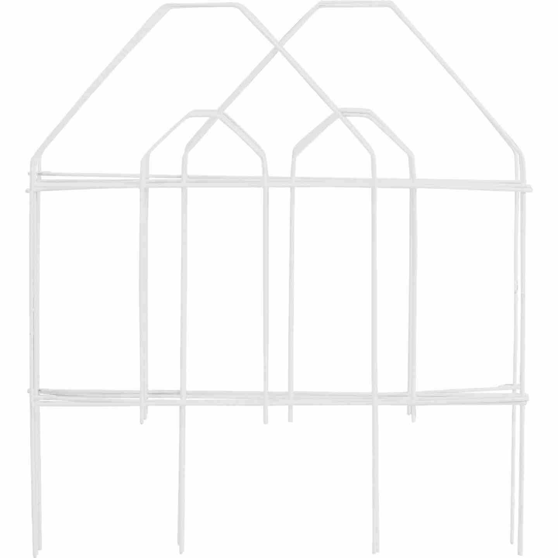 Best Garden 8 Ft. White Galvanized Wire Folding Fence Image 1