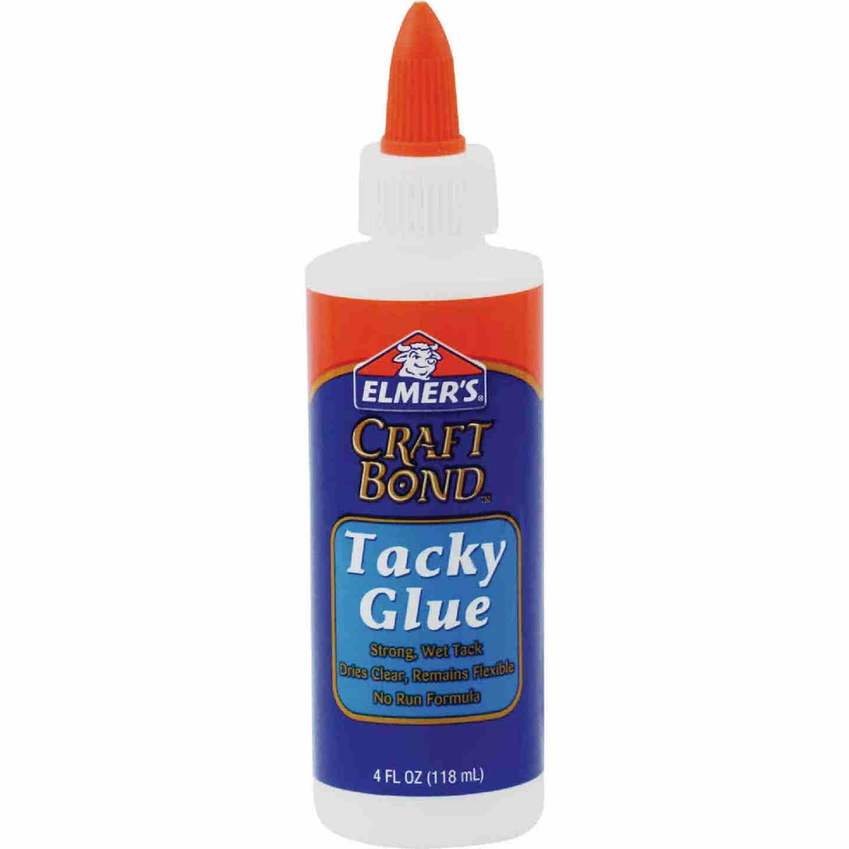 Elmer's Craft Bond 4 Oz. Clear Drying Tacky Glue Image 1